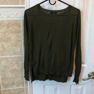 Zara Knit Olive Green Thin Sweater
